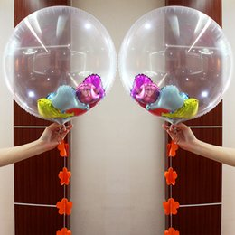 Wholesale 24 Inch Balloons - 2 5hy Large 24 Inch Transparent Foil Balloons Toy Clear Helium Airballoon DIY Confetti Toys Round Balloon For Wedding Birthday Party Decor