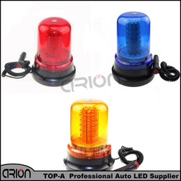 Wholesale Led Blue Magnetic - 2016 Car Truck 120 LED 60W Amber Blue Red Magnetic Emergency Warning LED Light Police Fireman 12V Strobe Lights Lamp