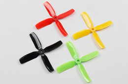 Wholesale Multi Helicopter - Y19052 8 pairs Kingkong 4040 4-blade CW CCW Propeller 4 inch Props 4x4x4 for MINI Quadcopter Racing Drone Multi-color