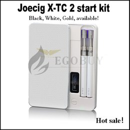 Wholesale E Cig Display Cases - Authentic joecig x-tc-2 patented e cig with Protable Power LED Display 900mah pcc Case 90mah Battery xtc2 Atomizer tank x-tc 2 starter Kits