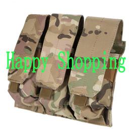 Wholesale Plain Magazine - Tactical Molle 5.56mm Triple magazine pouch holster bag outdoor equipment
