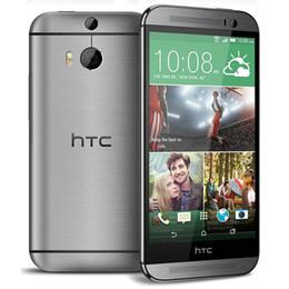 Wholesale Lte Cell Phones Wholesale - Original Unlocked HTC M8 Cell phones 5'' Quad Core 16GB 32GB ROM WCDMA LTE Refurbished phone