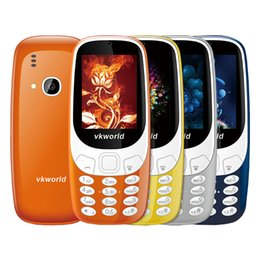 Wholesale Led Mobile Phone Screen - Original Vkworld Z3310 3D Screen 2.4 inch Elder Mobile Phones Loud Speaker FM Radio LED Light 2MP Camera Dual SIM Cell phone