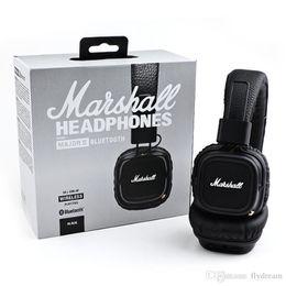 Wholesale Dj Stereo - Marshall Major II 2.0 Bluetooth Wireless Headphones DJ Studio Beat Headphone Deep Super Bass Noise Isolating Headset for iPhone Samsung