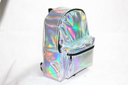 Wholesale Laser Hologram - Wholesale- New vintage women backpack Super Quality hologram backpack laser silver bag Student's School hologram backpack Free Shipping