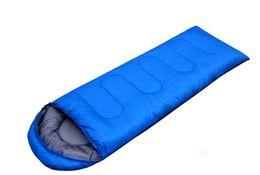 Wholesale Seasoning Case - Outdoor Light Sleeping Bag Camp Hiking Carrying Case Blue Fall Spring Blue Single Sleeping Bag
