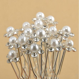 Wholesale Cheap Trendy Jewelry Wholesale - 2018 Top Selling Cheap Bridal Wedding Accessories Pearls Flower Hairpins Crystal Hair Pins Clips Hair Jewelry