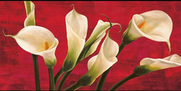 Wholesale Chassis Paint - Framed chassis biffi lilies in red,Pure Handpainted Art Oil Painting On Quality Canvas Wall Decor Multi Sizes Free Shipping Fl003