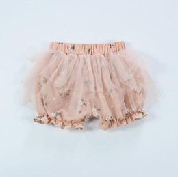 Wholesale Black Gauze Pants - Wholesale Girls Baby PP Shorts Cotton Linen Gauze Pants Newborn Clothing Summer Cute Toddler Flora Printed Shots Pants Infant Clothes