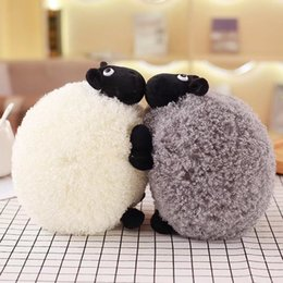 Wholesale Stuff For Girls - White And Gray Sheep Plush Stuffed Toy Doll Fleece Pillow Cute Doll Christmas Gifts For Girls