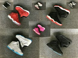 Wholesale Pink Pre - 2016 Retro XI GS Black Gamma Blue kids athletic shoes 11 Retro LEGEND BLUE columbia white boy girl sports shoes Pre-School PS Kid sneakers