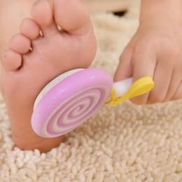 Wholesale Foot File Pumice - 2017 Lovely Foot Clean Scruber Hard Skin Callus Remover Scrub Pumice Stone Cute Lollipop Pedicure Foot File Scraper Scrubber Pedicure tool