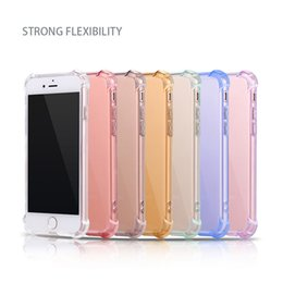 Wholesale Gold Corner - For iPhone 7 iPhone 6S Case TPU Crystal Clear Case 4.7 inches 5.5 inches Four Corners Airbag Shockproof Cover