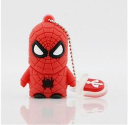 Wholesale Usb 16 Flash Drive - Punisher USB Stick Spider Super Man Hero Avengers USB 2.0 USB Flash Drive Creativo Pendrive Creativo Memory Stick2 4 8 16
