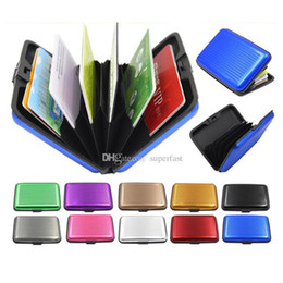 Wholesale Aluminium Credit Cards Holder - Aluminium Credit card wallet cases card holder,bank card case wallet Black(10 colors available)Free shipping