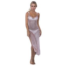 Wholesale Shiny Bikinis - 2017 Shiny Knitted hollow Bikini Cover Up Summer Dress Swimwear Kaftan Ladies Bathing Suit Cover ups Beach Tunic Saida de Praia A34