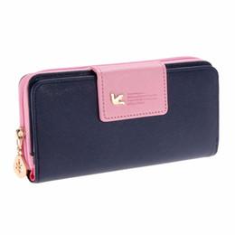 Wholesale Cards Two Folds - Wholesale- Fashion Ladies Clutch Bag Women Leather Wallets Burse Two Fold Wallet Lady Long Zipper Purse Card Phone Holder Bolsa Feminina