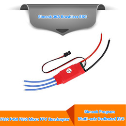 Wholesale Quad Copter Motors - Wholesale 30AMP 30A SimonK Firmware Brushless ESC w  3A 5V BEC for RC Quad Multi Copter