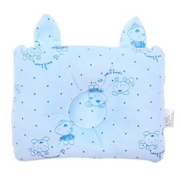 Wholesale Neck Protection Pillow - Newborn Pillow Baby Headrest Neck Protection Infant Prevent Flat Cute Head Pillows House Bedding Soft Sleeping Positioner VT0541