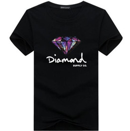 Wholesale Mens T Shirts Print - 3D Diamond men short sleeve t shirt skateboard fashion brand clothing hip hop camisetas mens tops streetwear tee shirt homme