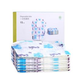 Wholesale Disposables Bibs - Wholesale- Big Disposable Bibs For Babies Kinderkleding Meisjes Mom Care Summer Mouth Cloth Baby Burp Bibs Baberos Cotton 15 Loaded 504057