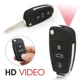 Wholesale Outdoor Car Camera - Mini Camera HD 1080P Car Key Hidden Camera Video Recorder Motion Detection DVR With Infrared Night Vision Indoor Outdoor Portable Camcorder