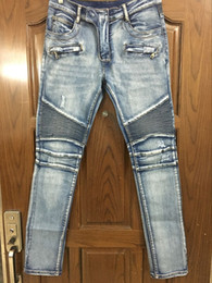 Wholesale Stylish Capris - Wholesale-NWT BP Men's Stylish Fashion Stretch distressed Slim acid washed biker Jeans Size 28-42 (#957),Epacket Fast Free Shipping
