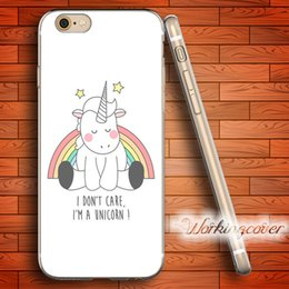 Wholesale Iphone 5c Silicone - Coque Cartoon Cute Unicorn Soft Clear TPU Case for iPhone 6 6S 7 Plus 5S SE 5 5C 4S 4 Case Silicone Cover.