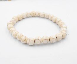 2019 freundschaftsarmbänder perlen Großhandels-Lava Steinarmband-Armband-elastischer Schnur-Naturstein-Freundschafts-Korn-Armband für Frauen und Männer rabatt freundschaftsarmbänder perlen