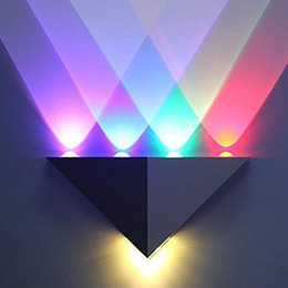 Wholesale G4 Led Lamp Indoor - Modern Triangle 5W LED Wall Sconce Light Fixture Indoor Hallway Up Down Wall Lamp Spot Light Aluminum Decorative Lighting for Theater Studio