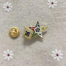 50pcs gros carré et boussole épinglette ordre de la étoile orientale patron maçonnique et franc-maçon broches épingles badges ? partir de fabricateur