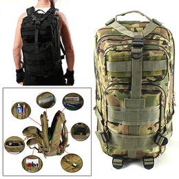 Wholesale Green Hiking Backpack - 2017 Men Women Outdoor Military Army Tactical Backpack Trekking Sport Travel Rucksacks Camping Hiking Trekking Camouflage Bag