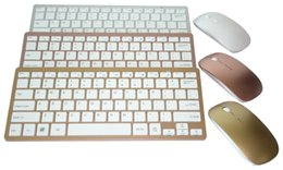 2019 clavier pour apple tv Anglais 2.4G Ultra-Mince Chocolat Clavier Sans Fil Clavier Souris Combos pour Apple Style Mac Pc Fenêtre XP / 7/8/10 Smart Tv Box clavier pour apple tv pas cher