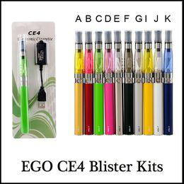 Wholesale Ego T Cases - EGO CE4 starter kit E-Cigarette Blister Kits eGo-T Battery 650mah 900mah 1100mah blister case Clearomizer starter kit