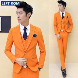 Wholesale Premium Pants - Wholesale- ( suit +vest+pants)2017 premium brand the groom's wedding dress Men's wedding suits  Male premium brand pure color business suit