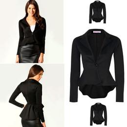 Wholesale Women S Suits Tuxedos - 2017 Brand Blazer Women Slim Black Office Suit Jacket Ladies Single Breasted Tuxedo Formal Business Women Blazers and Jackets