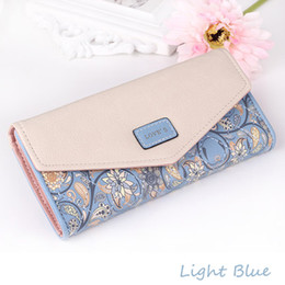 Wholesale Ladies Wallets Wholesale - 2017 Hot Selling! Women Rural Floral pattern Long Wallet Ladies Clutch Bag Fashion Handbags wholesale gifts