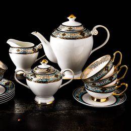 Европейский керамическая костяной фарфор набор послеобеденный чай Чашка кофе в подарок и кухня столовая посуда бесплатная доставка от Поставщики тонкий костяной фарфор