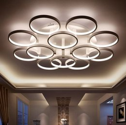 New Arrival Circle rings designer Modern led ceiling lights lamp for living  room bedroom Remote control ceiling lamp fixtures LLFA from dropshipping  Canada Lighting Fixture Designers Supply  Lighting Fixture  . Living Room Light Fixtures Canada. Home Design Ideas