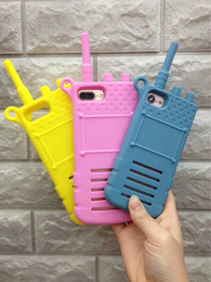 Wholesale Talkie Case - 3D Simulation Walkie - talkie Phone Cases For Iphone 7 Plus 6 6S Plus 7Plus Cute Men Women Mobile Cell Phone Case Cover Fashion Luxury High