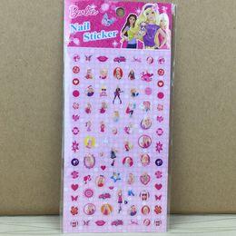 blocs d'activité Promotion Fashion Toddler Girls Cartoon Nail autocollant Cuter Anime Style Enfants Princesse Nail autocollants Baby Party cadeau enfants autocollants C3971