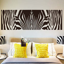 Zebra wanddekor online-Neue Design Mode Abstrakte Kunst Zebra Muster Wandaufkleber Kreative Vinyl Wohnkultur Günstige Wandtattoos