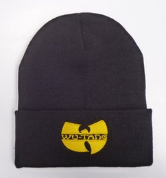 Wholesale Knit Mask - 2017 Unisex Mask New Fashion Winter WU TANG CLAN Beanie Hats For Women Men Acrylic Black Knitted Caps Ski Crochet Gorros Toca