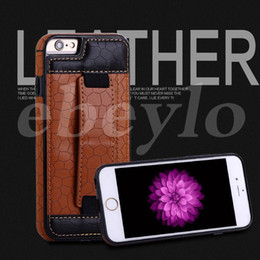 Wholesale Football Cards Cases - PU Leather Case Football Surface Back Cover For iPhone 6 6s plus iPhone 7 7 plus With Card Slot Special Sticker