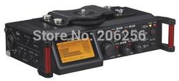 Wholesale Audio Mixer Microphone - Wholesale- TASCAM DR-70D 4-Channel DSLR Audio Recorder Four-channel recorder and mixer Four XLR microphone inputs with phantom power