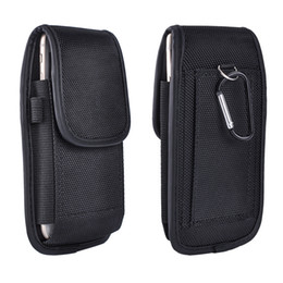 Wholesale chinese belts - 5 inch For iphone 6 7 Universal Sport Belt Nylon Leather Holster Moblie phone Case Cover Pouch for Samsung S8 S7 X 8