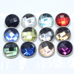 Wholesale Rhinestone Charm Sliders - 30 PCS lot nooca mixed color 18 mm snapshot button jewelry glass suitable for bracelet filming ginger snaps jewelry