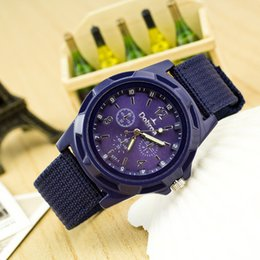 Wholesale Rope Watch Men - Cloth Woven Rope Sports Watches Sea and air Military Wristwatches For Man Women Four Colors Free Shipping Min order 5pcs 6373