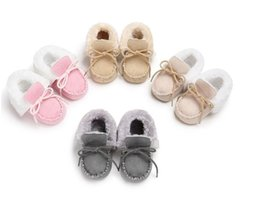 Wholesale Cheap Toddlers Snow Boots - Drop shipping Winter leisure baby boots,0-18 M toddler shoes,cheap shoes,fuzzy warm infant shoes,soft children snow shoes!6pairs 12pcs.SX