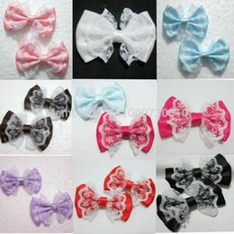 Wholesale Craft Beige Ribbon - Wholesale- 10pieces lot 55mm*35mm organza satin ribbon Bow Appliques Craft DIY Wedding A01